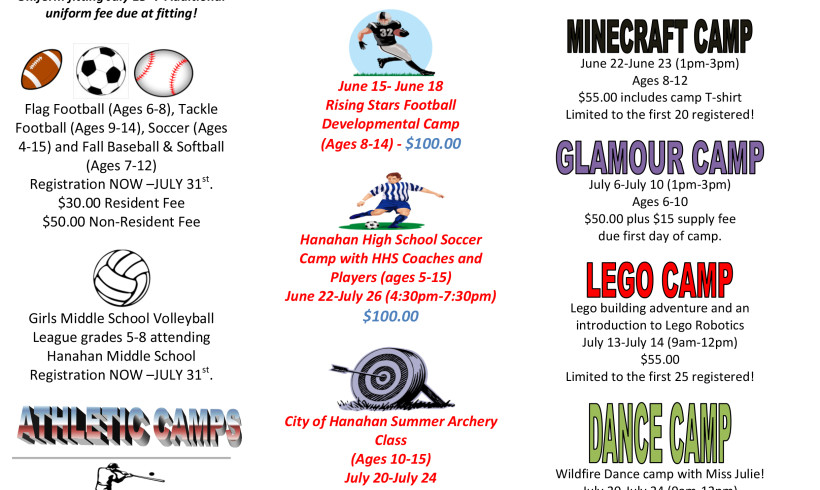 Register Now For Specialty Summer Camps!